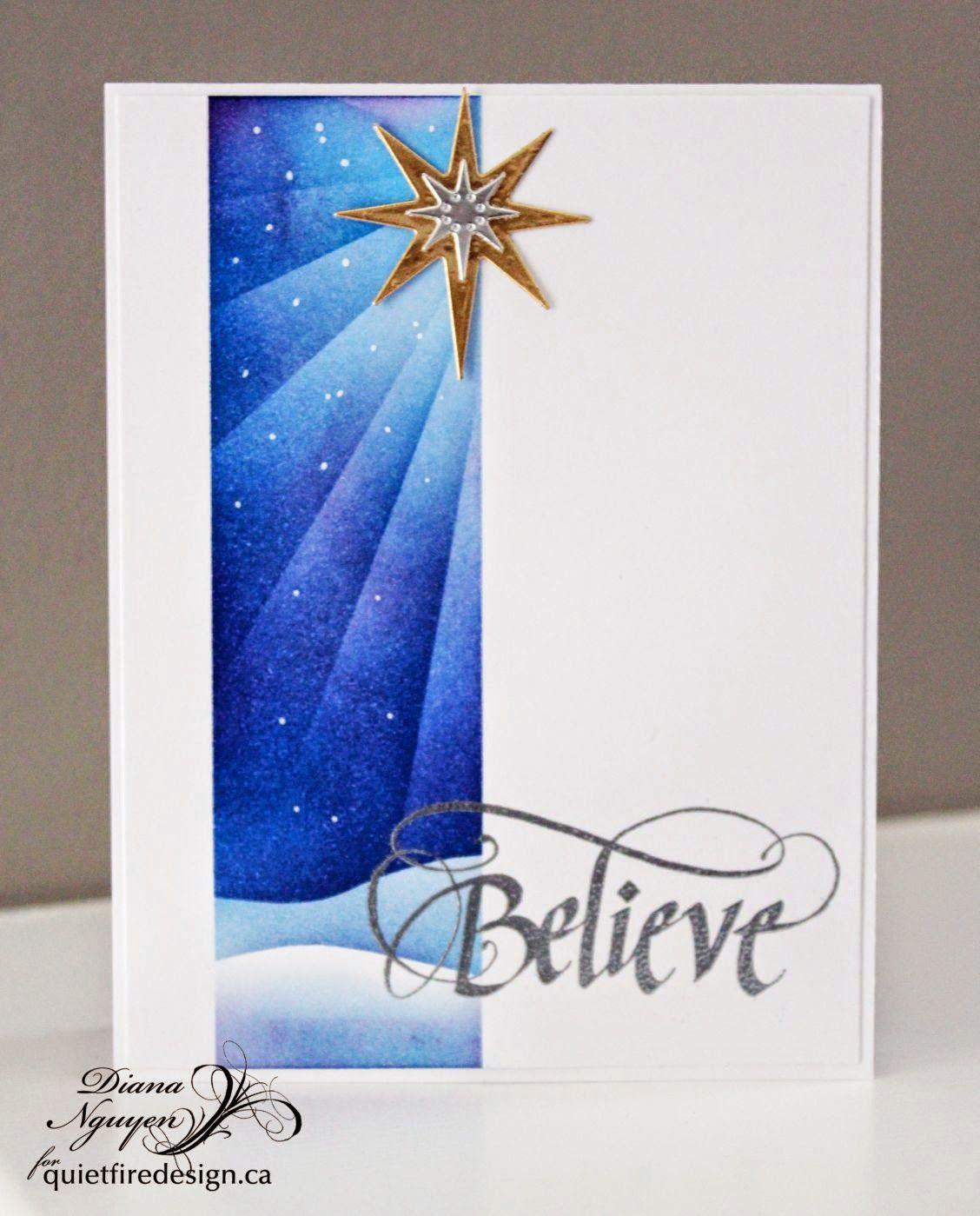 Quietfire Design, Diana Nguyen, CAS, Christmas, card ...