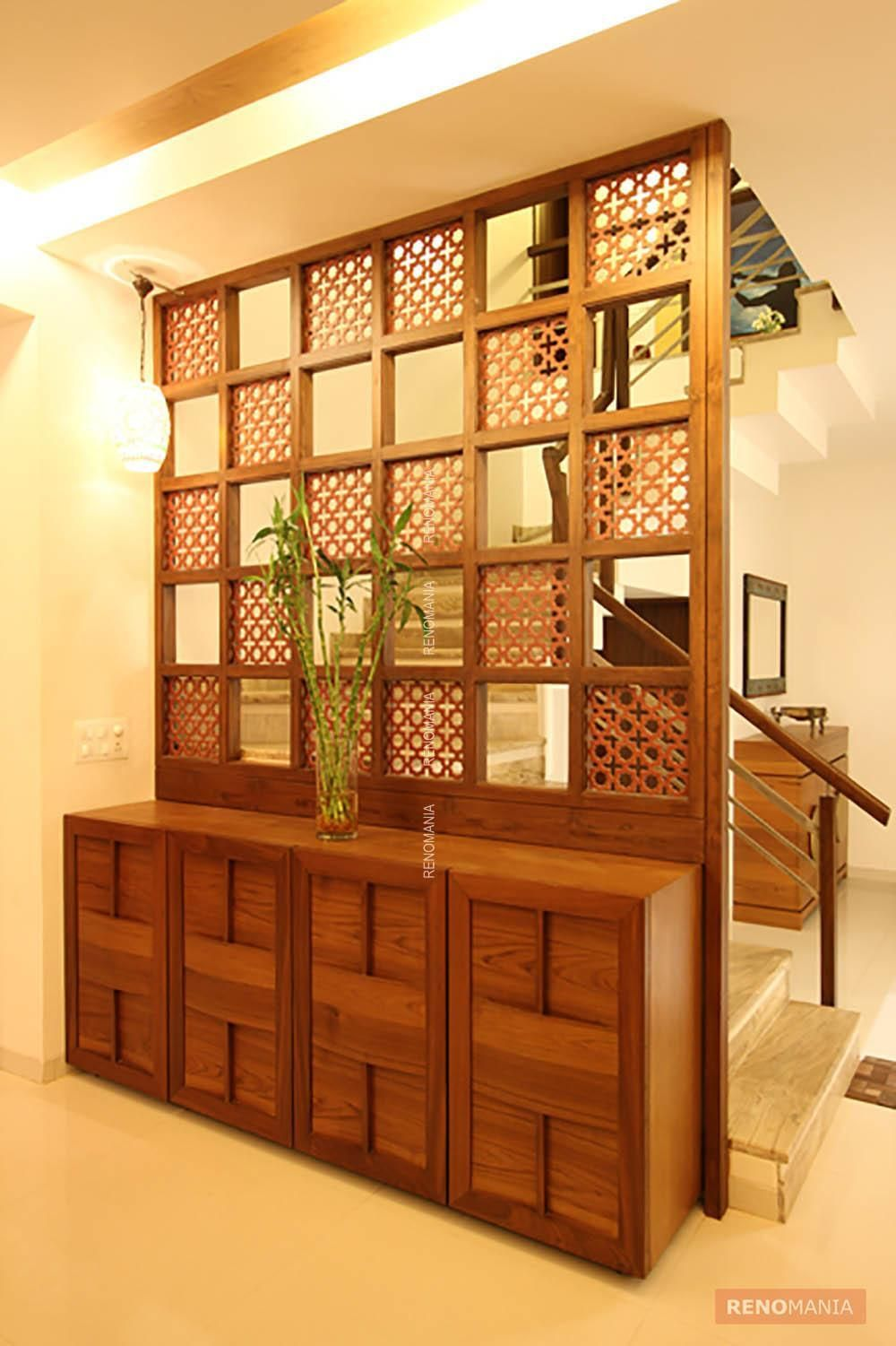 Modern lobby decor ideas room living room designs living room partition for Living room partition designs in indian