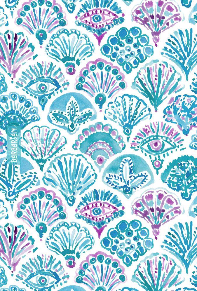 OMNISCIENT MERMAID All-Seeing Eye Scallop – BARBARIAN by Barbra Ignatiev | Bold colorful art