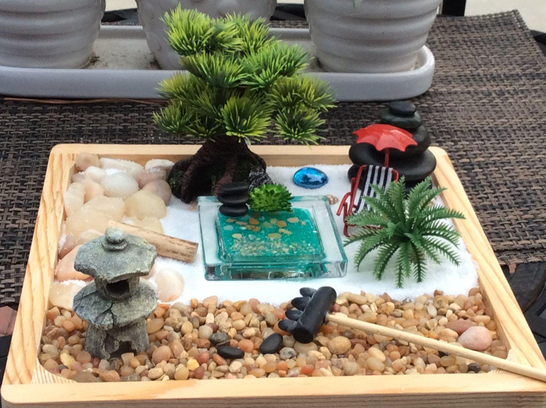 Attrayant Zen Garden,sensory Box,sand Box,handmade Polymer Clay Rock Pond,Fairy Garden  Accessories. By NaomisSweetStuff On Etsy