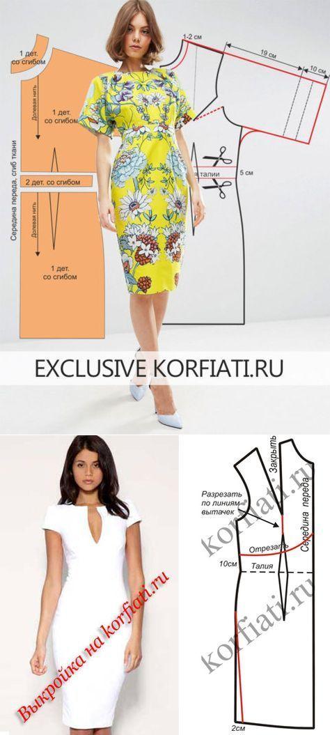 da5100f886f Выкройка летнего платья с рукавами от Анастасии Корфиати