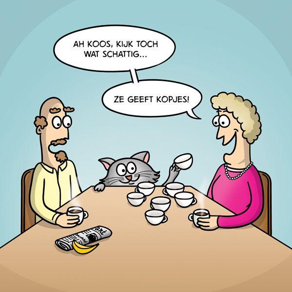 vet handig zo'n poes | droge humor - funny, humor en funny cartoons