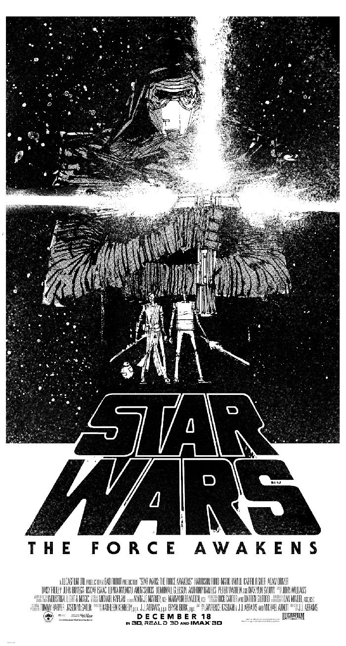Star Wars The Force Awakens By Hayden Sherman Home Of The Alternative Movie Poster Amp Star Wars Poster Star Wars Design Star Wars Artwork