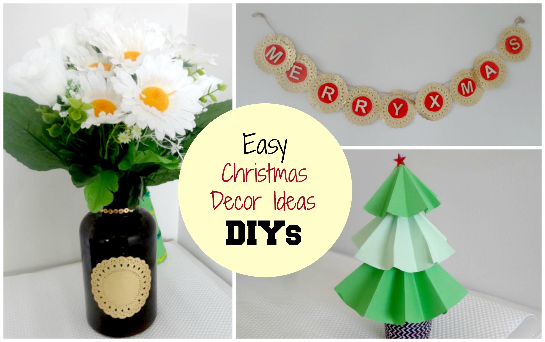 DIY Christmas Home Decor Ideas, X Mas Tree, Vase, Wall Art ...