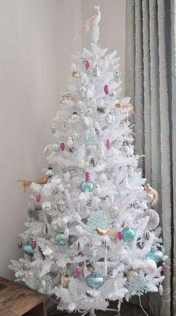 Decorating my white Christmas tree Christmas Trees Pinterest
