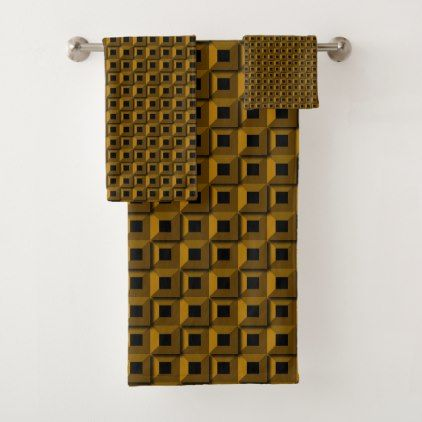 Barnacles in Gold Bathroom Towel Set | Zazzle.com | Yellow ...