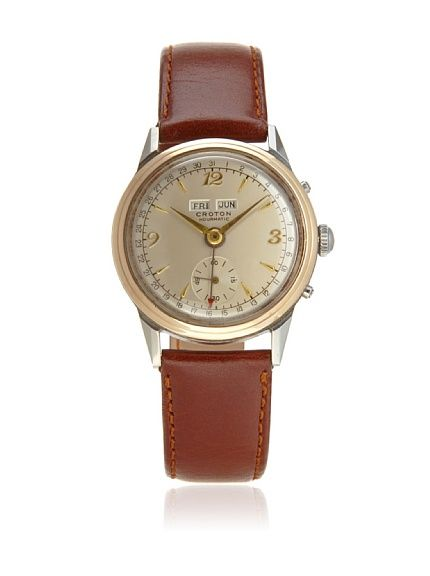 second time around watch company men s 1950 s croton 1950 s brown second time around watch company men s 1950 s croton 1950 s brown silver