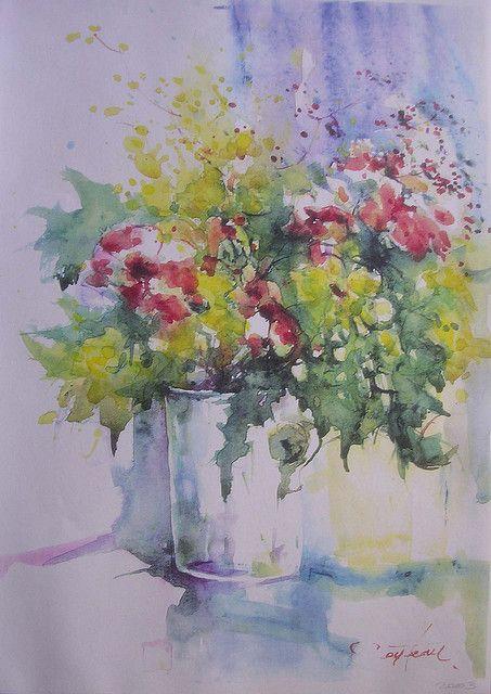 Bouquet Of Colours Floral Watercolor Watercolor Artists