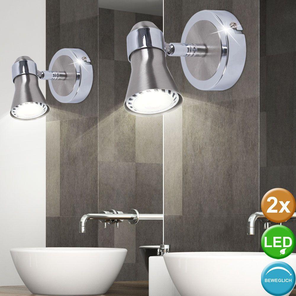 Faretti E Spot Da Soffitto dettagli su 2x lusso led da parete illuminazione bagno