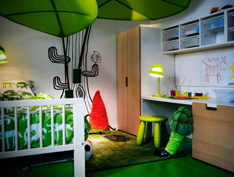 Ikea kinderzimmer stuva  Gut durchdachte Aufbewahrung für Kinder; Kinderzimmer mit STUVA ...