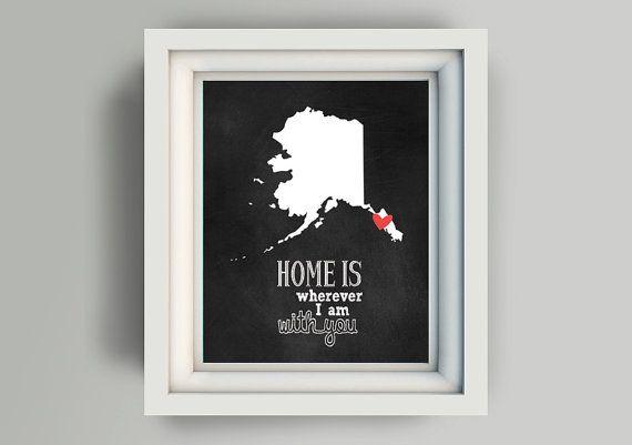 Printable Alaska  Instant download digital by WordsForeverSpoken, $5.00
