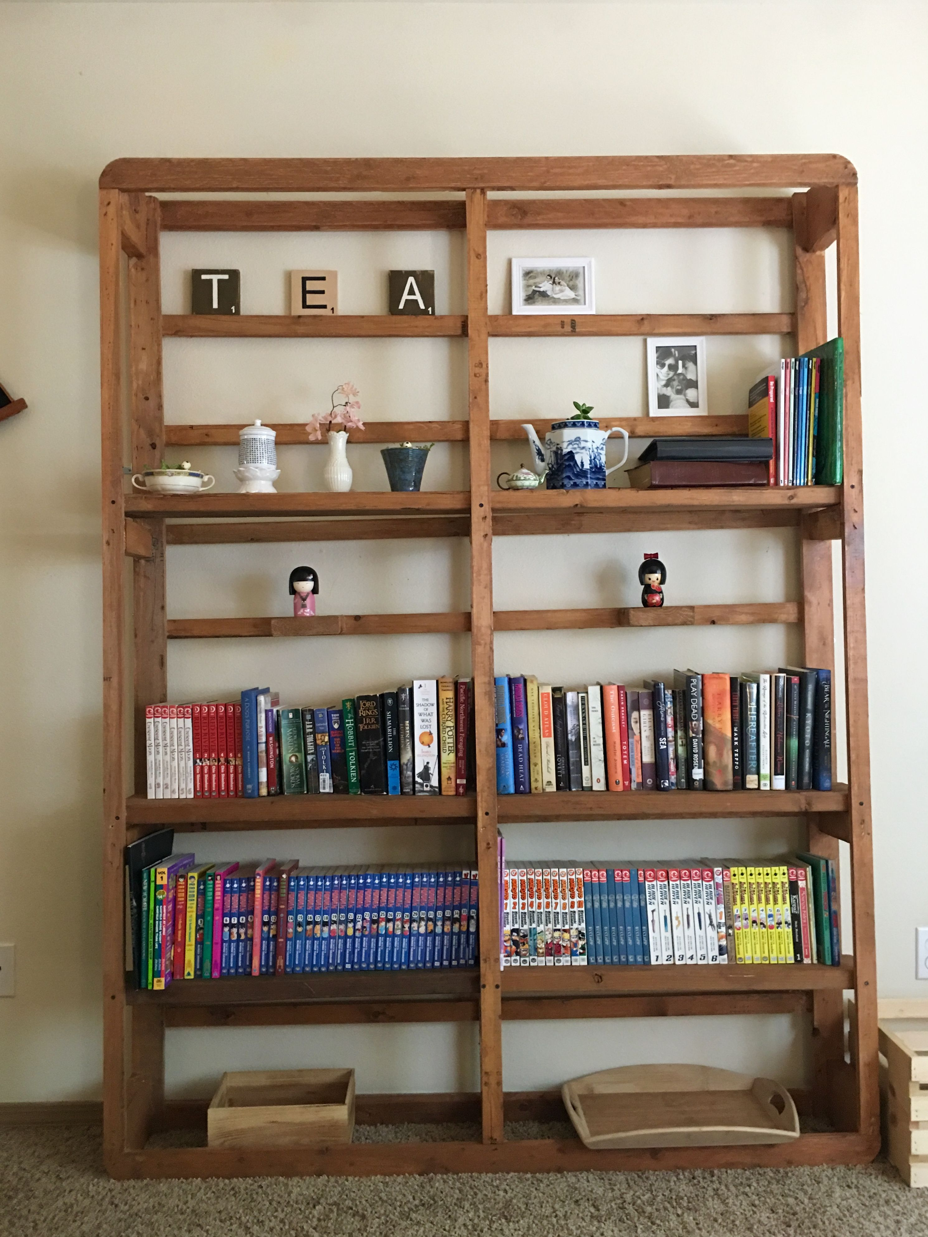 Diy shelves made from old box spring. Shabby chic, country
