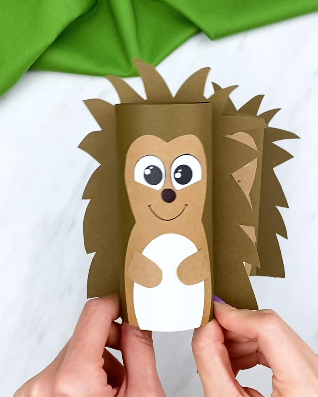 Photo of Toilet Paper Roll Hedgehog Craft