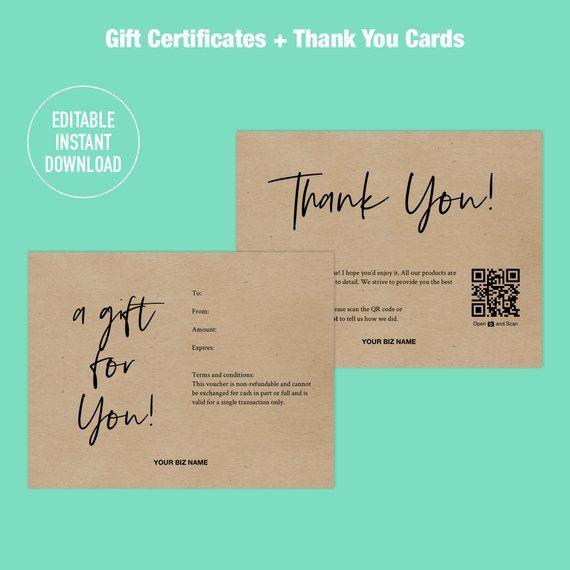 Gift Certificate Templates Printable Gift Certificate Etsy In 2021 Gift Card Template Gift Card Design Gift Voucher Design