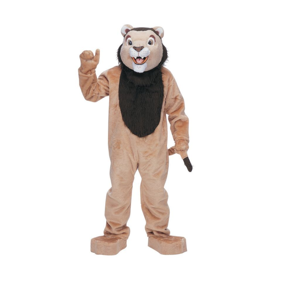 Lion Mascot Complete Halloween Costume for Men - One Size ...