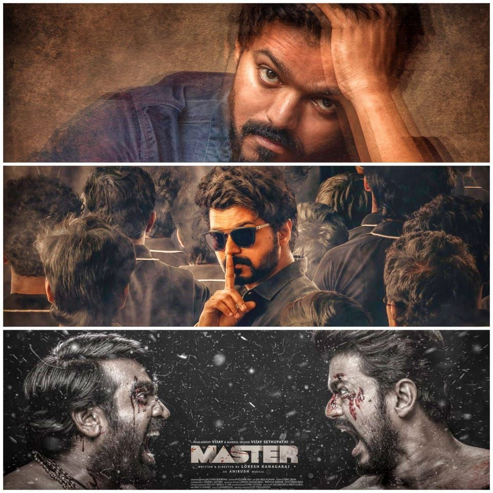 Best Fan Made Posters Of Thalapathy Vijay S Master In 2020 Best Fan Poster Vijay Actor