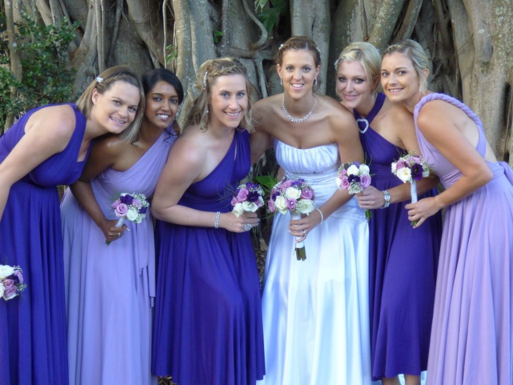 Cadbury purple and lavender Infinity bridesmaids dresses. Mix up ...