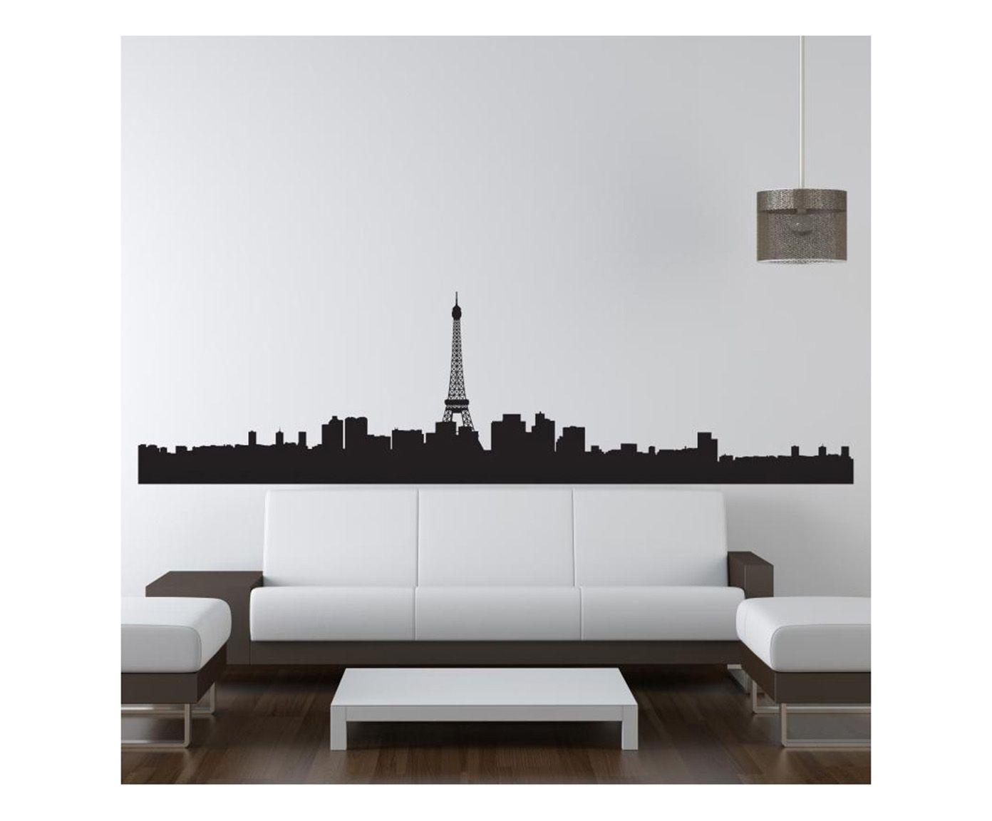 Adesivo in pellicola vinilica I Love Paris 120x34 cm