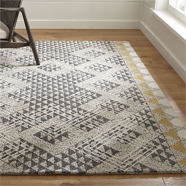 Thea Hand Hooked Wool Rug Crate And Barrel Rugs On