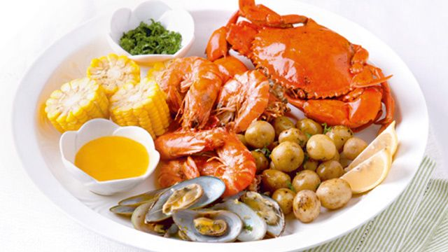 Steamed Seafood Platter Recipe Seafood Platter Food Recipes