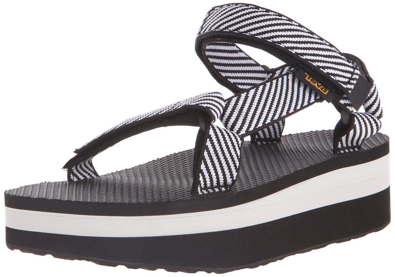 be8c80ea7fe07 Amazon.com: Teva Women's Flatform Universal Sandal, Candy Stripe ...