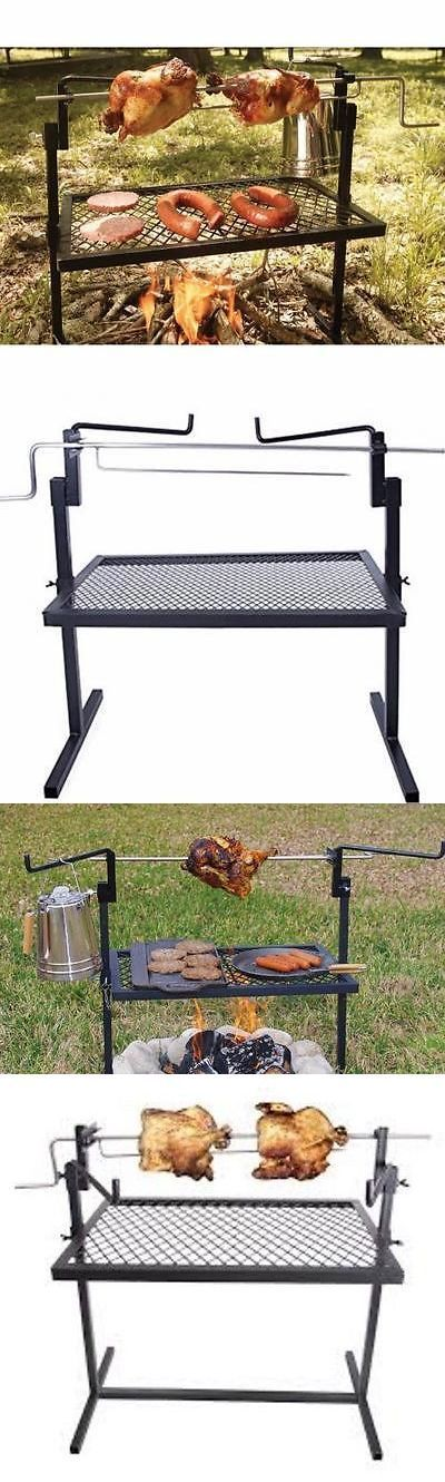 Outdoor Campfire Cooking Grill Rotisserie Camping Equipment Kitchen Patio Deck