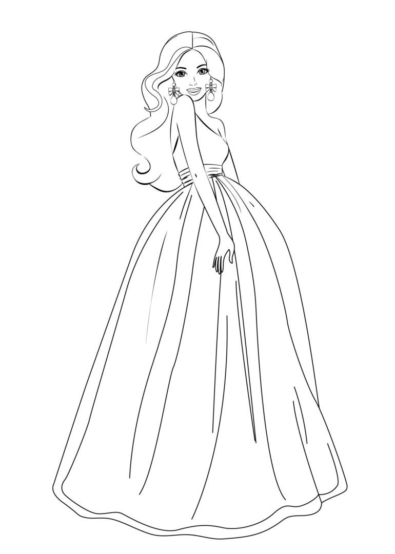 barbie coloring pages for girls - Coloring Pages For Girls Online