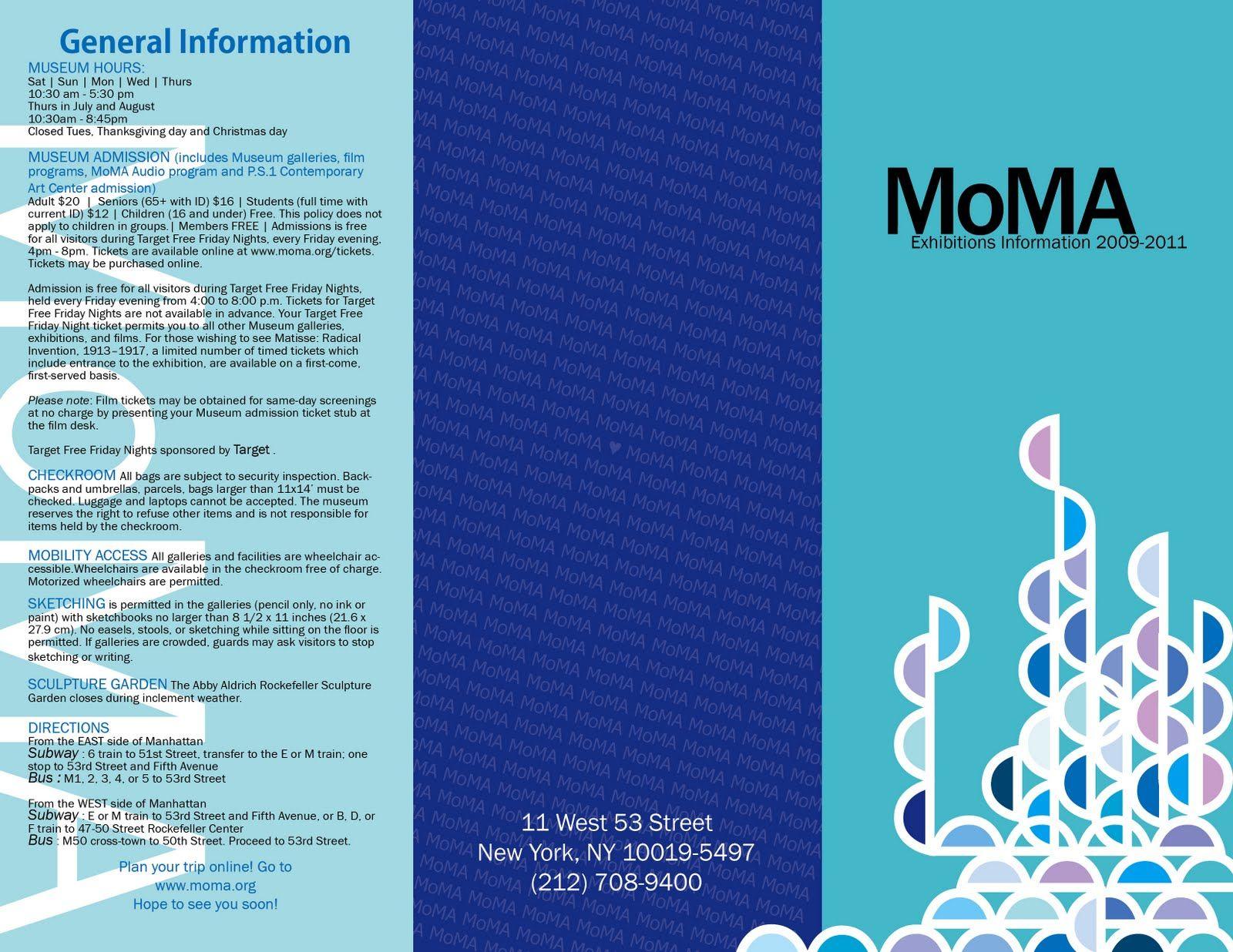 3 Flap Brochure Moma T . L Mosi
