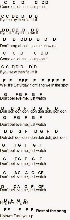 Flute Sheet Music: Uptown Funk | Flute sheet music | Music ... | 292 x 908 jpeg 74kB