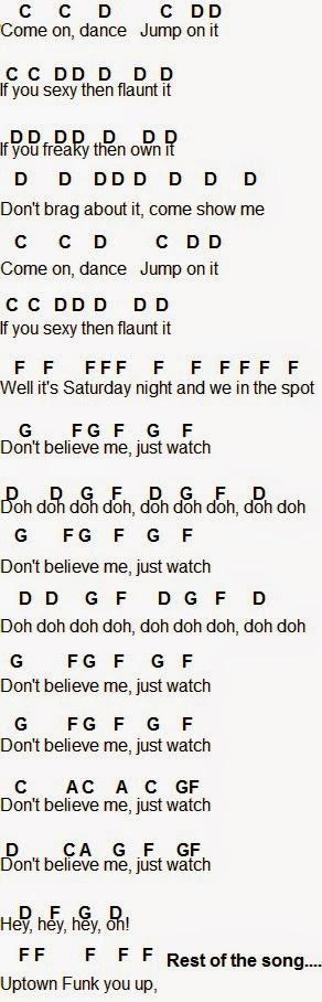 Flute Sheet Music Uptown Funk Music Chords Piano Music Notes Flute Sheet Music