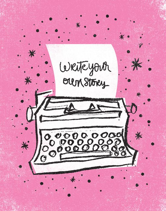 Write your own story. Art Print