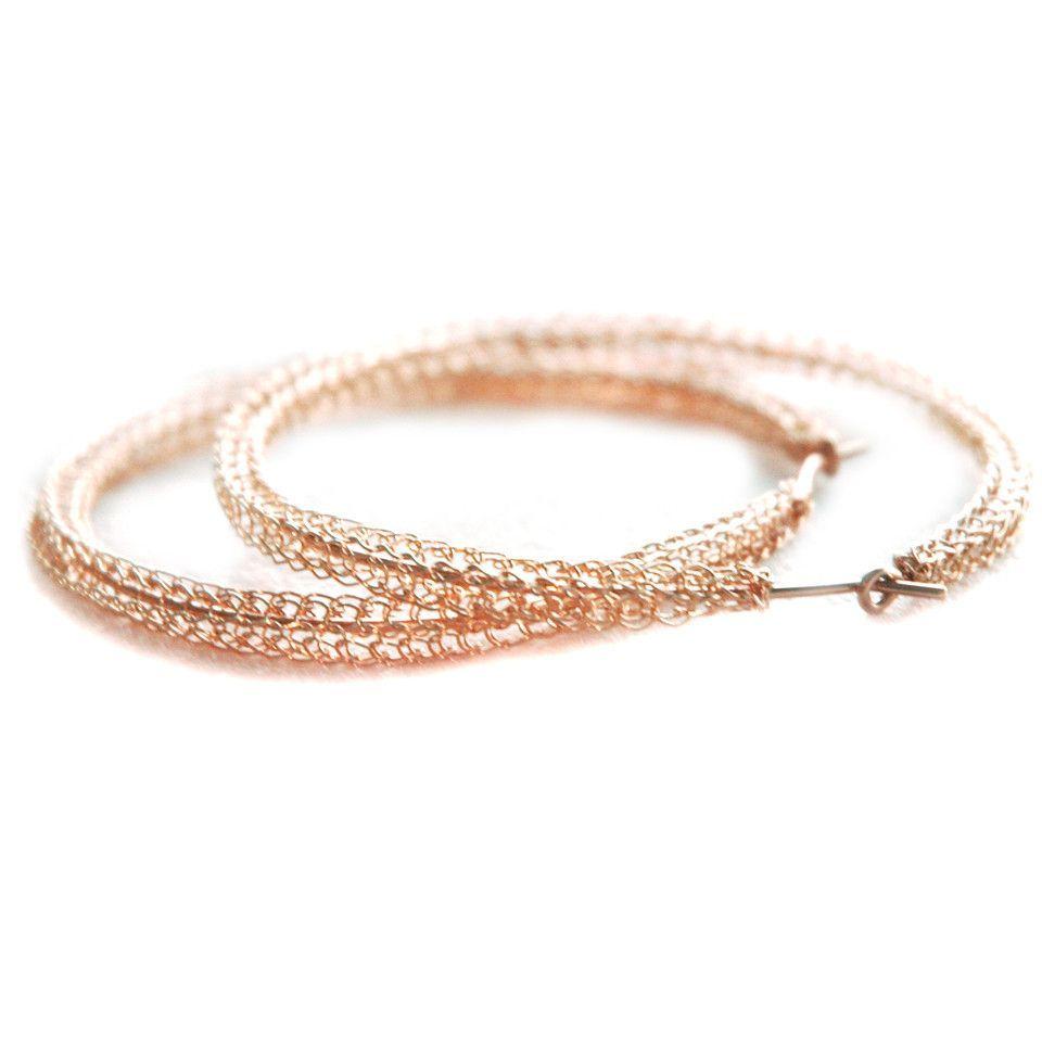 Extra Large Rose Gold Hoop Earrings Contemporary Jumbo Hoops