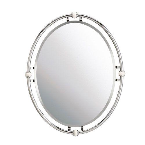 Kichler Pocelona Chrome Mirror 41067ch Oval Mirror Home Decor
