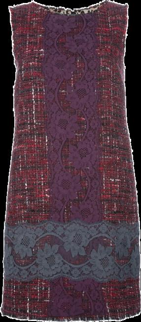 DOLCE & GABBANA boucle knit and lace dress