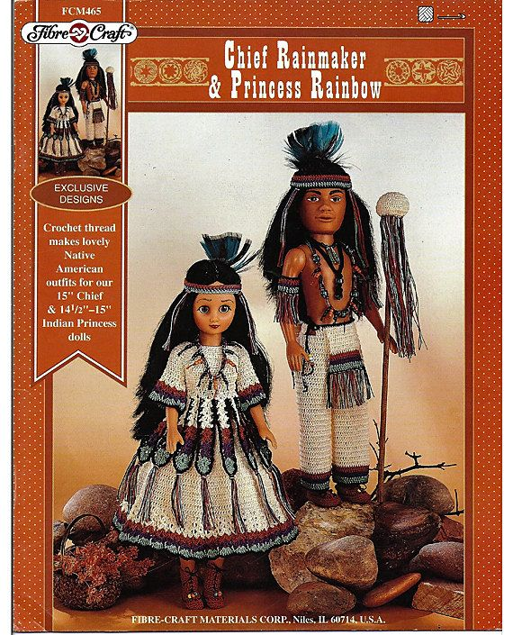 "Native American INDIAN PRINCESS 15"" Doll w// Beading Kit Fibre Craft #3202 ~ NEW"