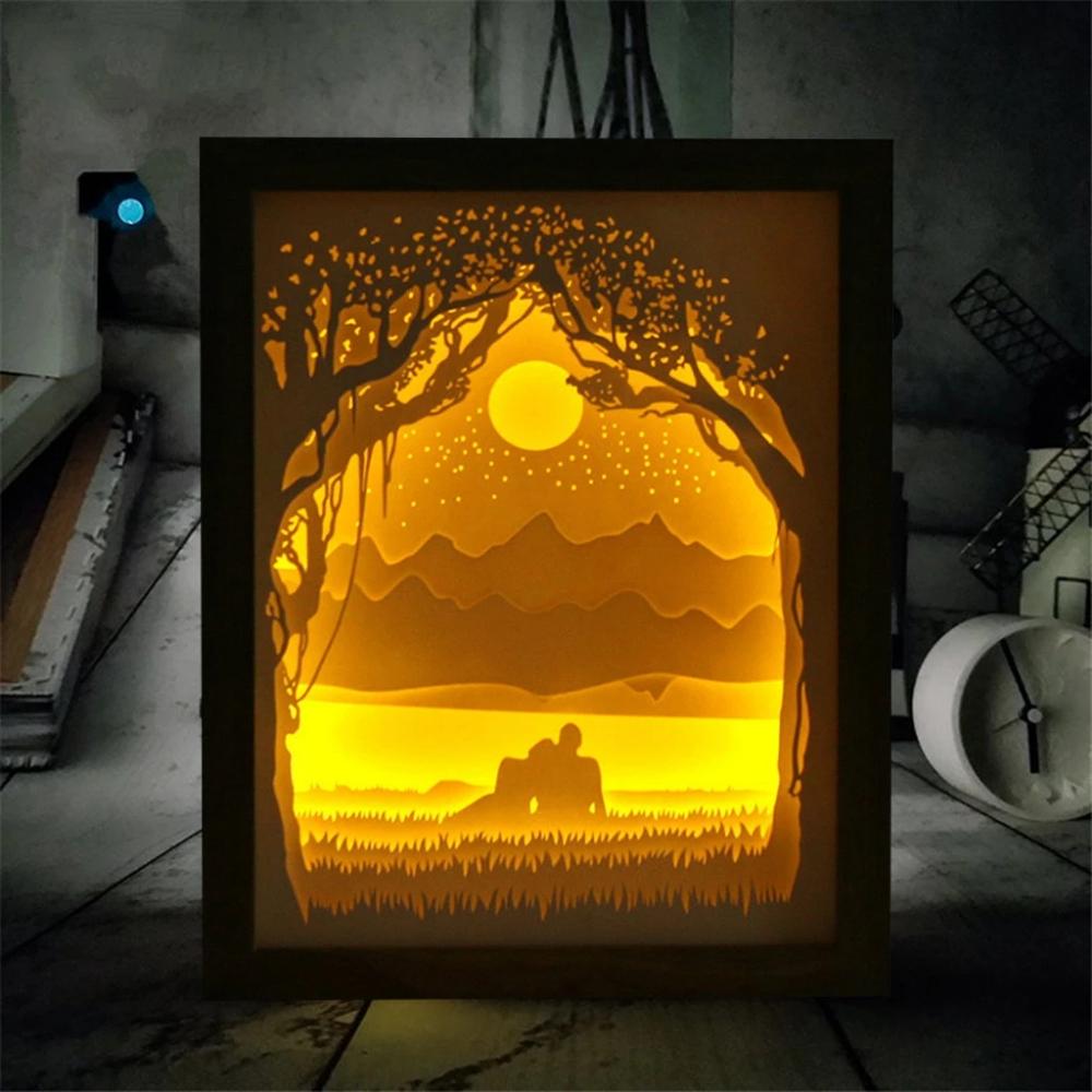 Light Up beautiful Scenic Lighthouse toile avec lumières DEL-Cadeau Idéal