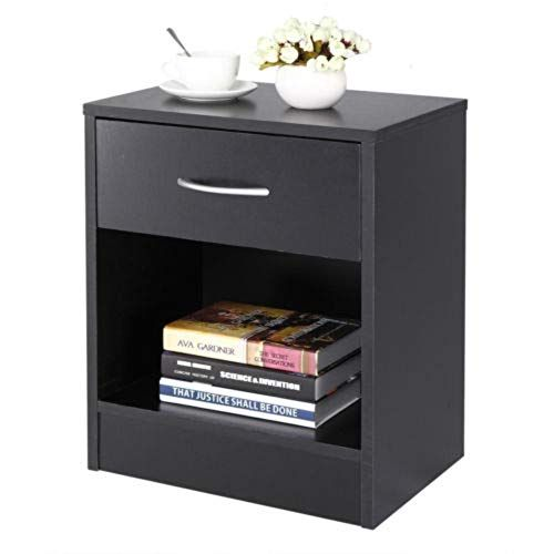 Night Stand 2 Layer Bedside End Table Organizer Bedroom