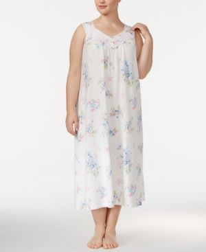 197539cc112 Charter Club Plus Size Printed Cotton Knit Nightgown