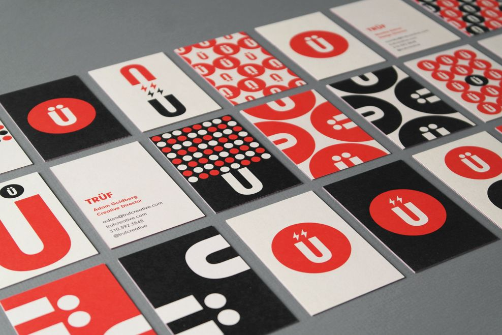 TRUF Creative brand identity refresh business card designs 1