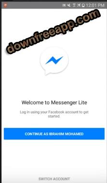 تحميل ماسنجر لايت الخفيف للاندرويد Messenger Lite APK