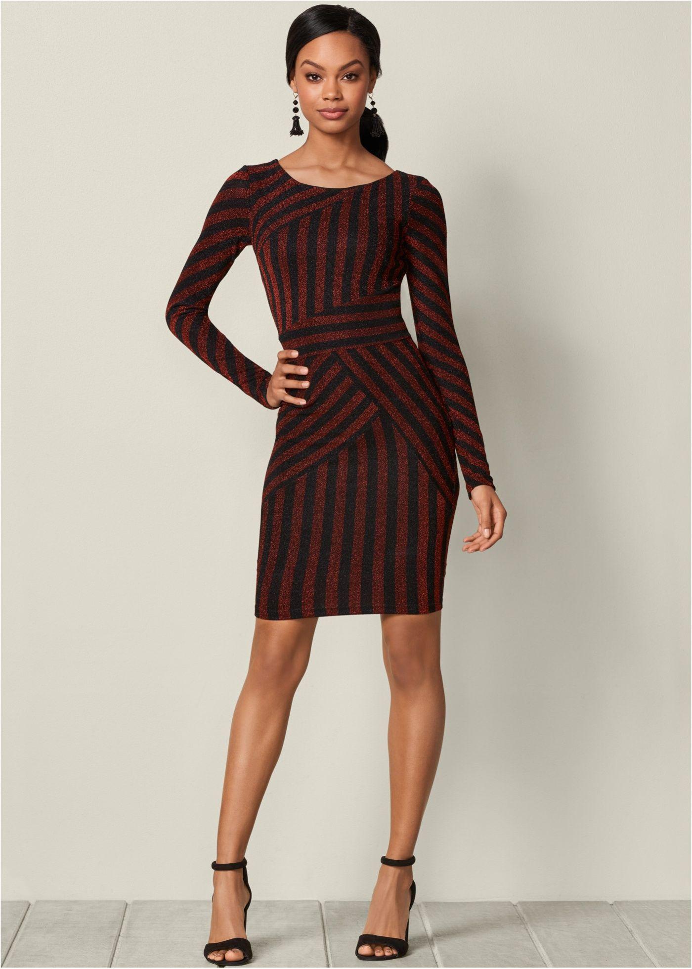 Kleid | Streifen, wunderschönes Kleid und Online shops