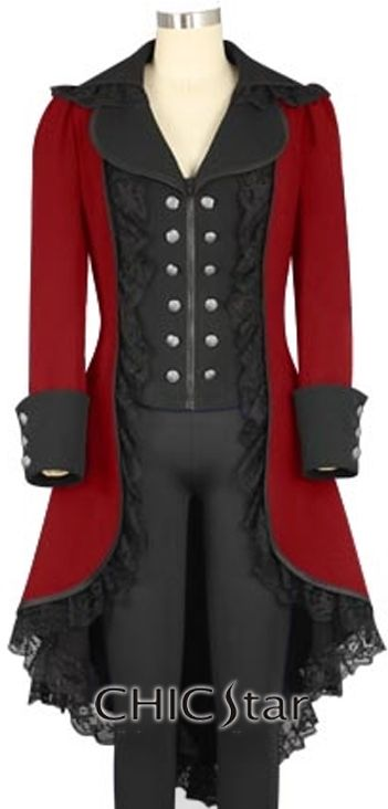 ed968585a0c ChicStar Gothic Victorian Coat - Design by Amber Middaugh and Jennifer  Dittmann Steampunk Costume