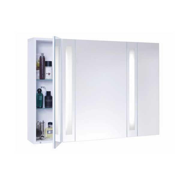 armoire de toilette fluo 3 portes 2 tubes fluo armoire de toilette porte miroir et fluo. Black Bedroom Furniture Sets. Home Design Ideas