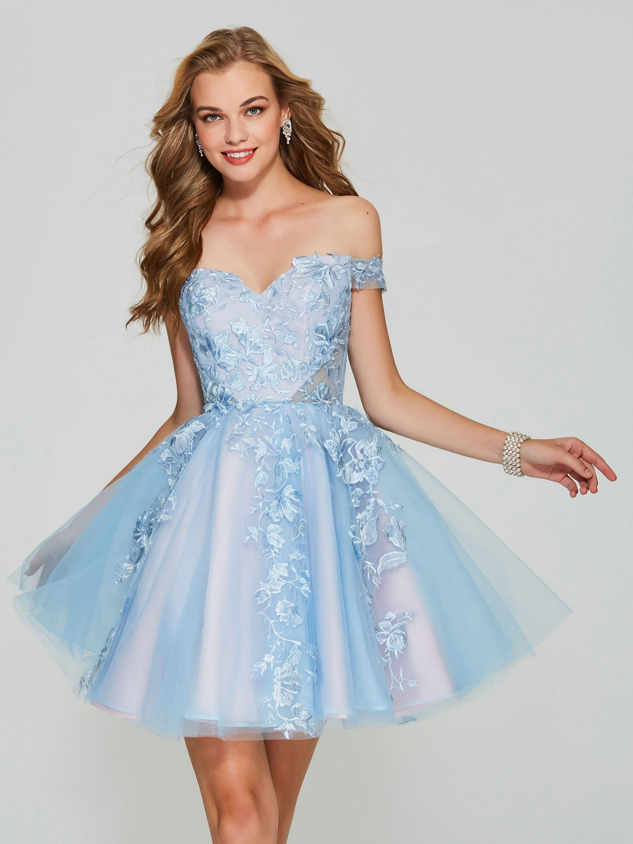 Off the shoulder applique lace short homecoming dress homecoming