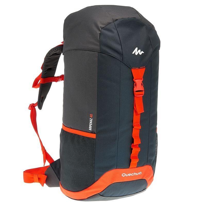 SAC A DOS ARP 40 noir/orange - Decathlon | Sac à dos randonnée ...