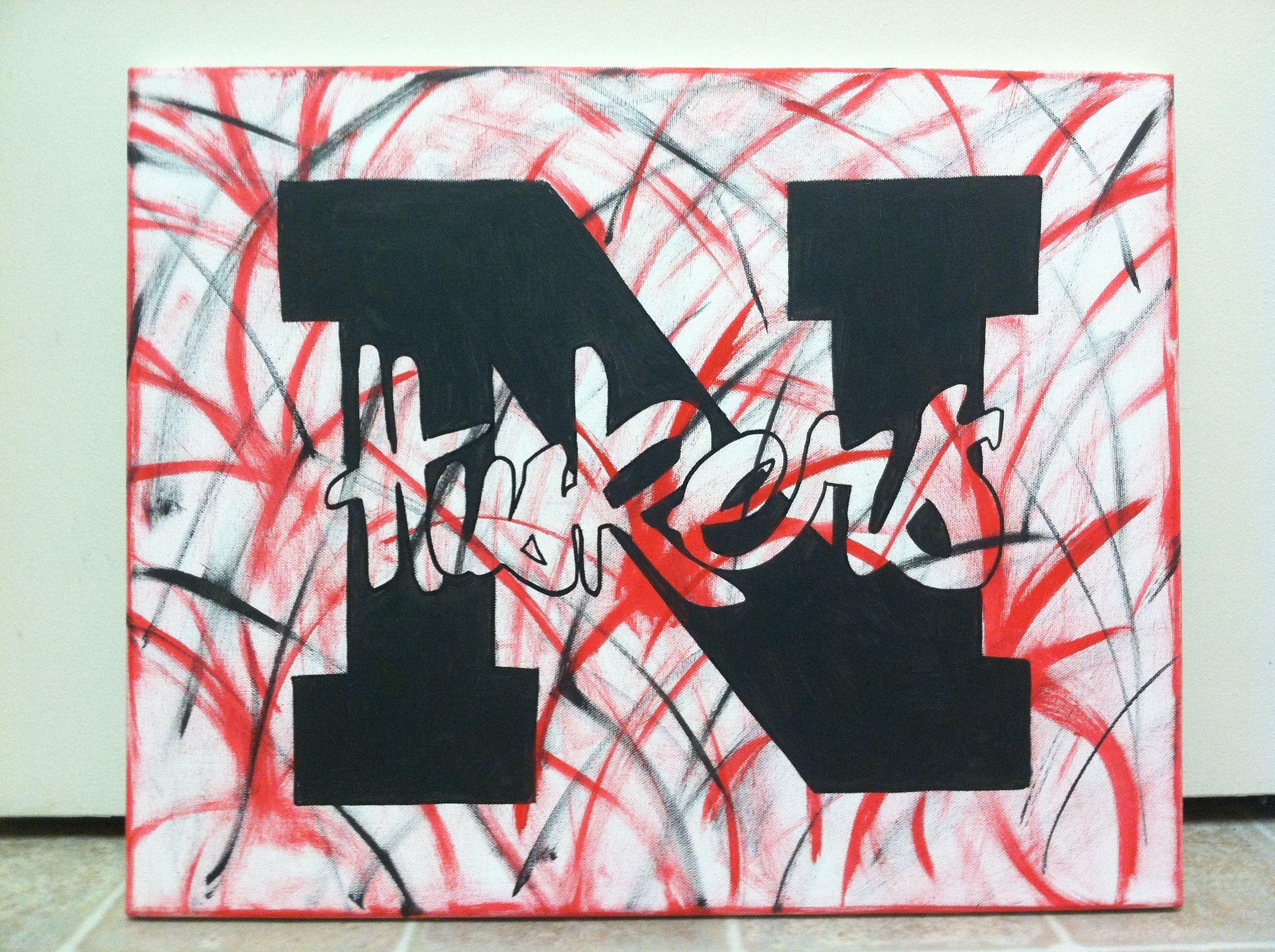 Husker Canvas Sign Design Painting Class Summer Diy