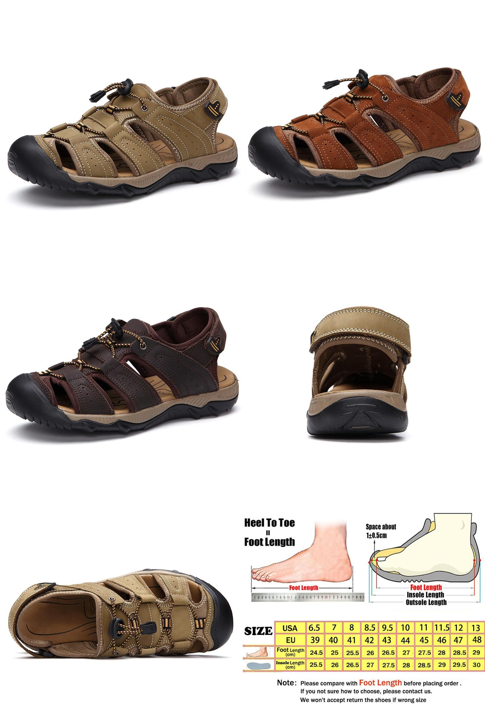 e025fa6035affc  Visit to Buy  Fashion Brand Leather Dress Men Sandals Casual Summer Beach  Shoes Men s