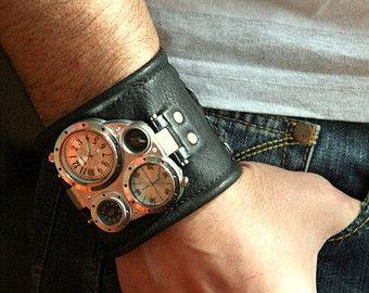Mens wrist watch bracelet Tuareg-5 Steampunk Watches von dganin
