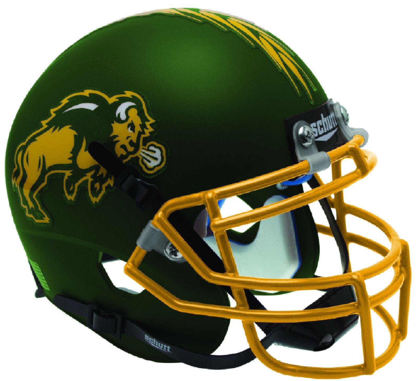 SOUTH FLORIDA BULLS Schutt XP Full-Size REPLICA Football Helmet MATTE GREEN