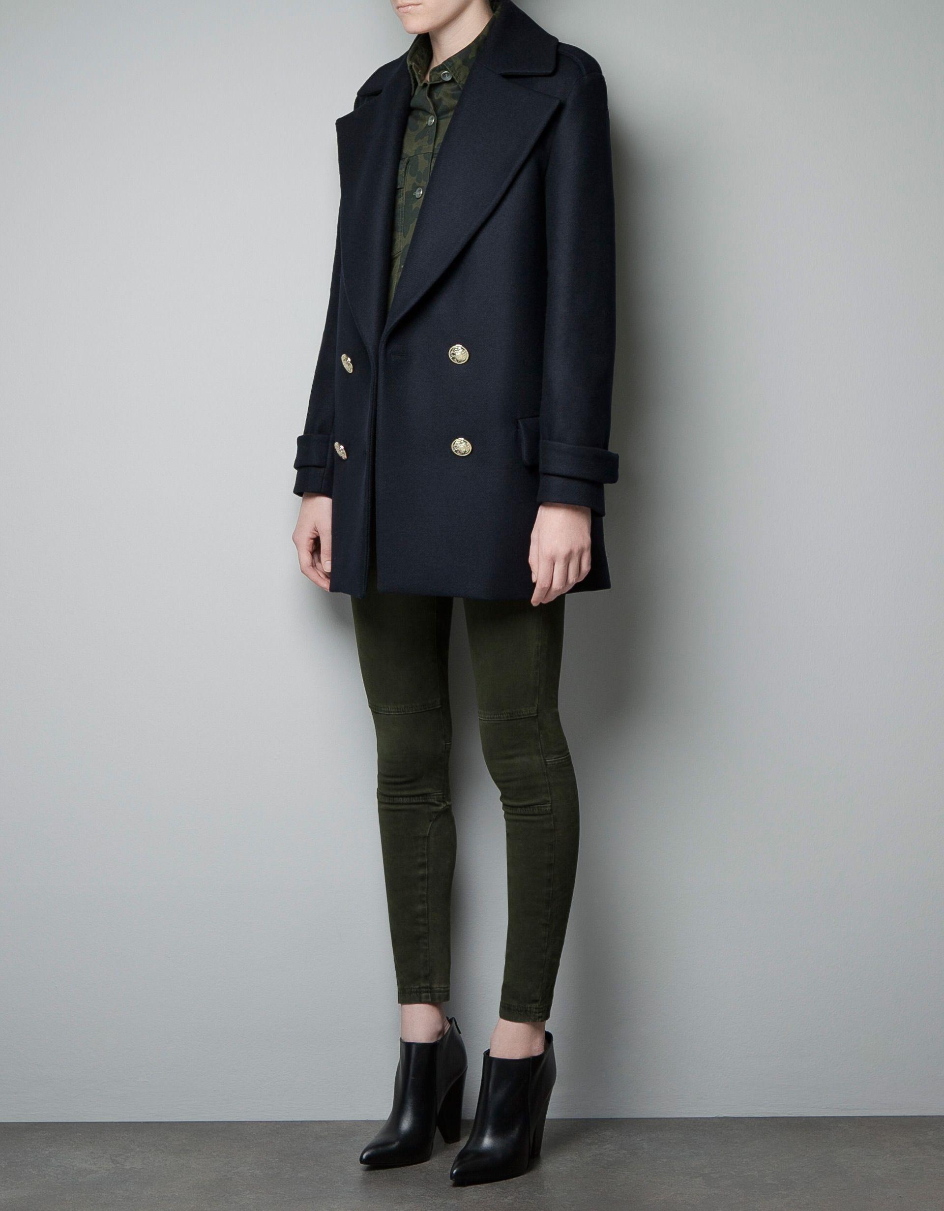 Zara Short Military Coat - restocked annually   Want   Pinterest ...